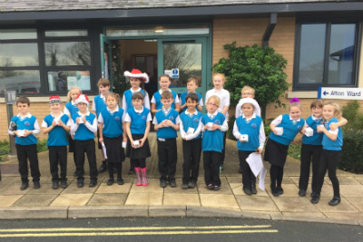 Christmas Choir performed at St Mary's Hospital