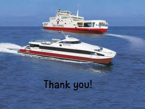 Red Funnel sponsor our ferry travel for Liverpool trip