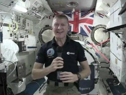 Tim Peake spoke The Tempest class in a live webcast from the International Space Station