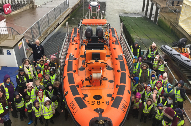 Reception Classes visit Cowes Lifeboat Station