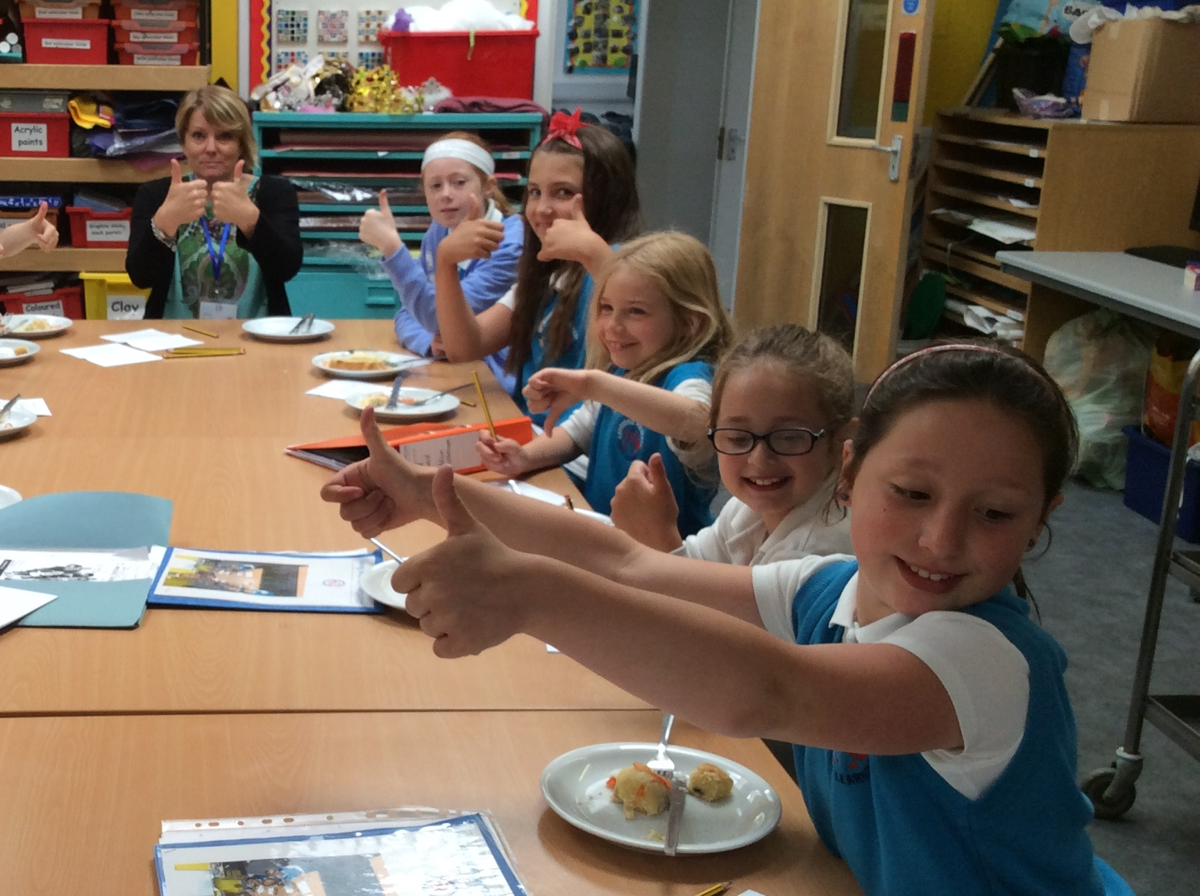 School Council take part in Chartwells's taste test