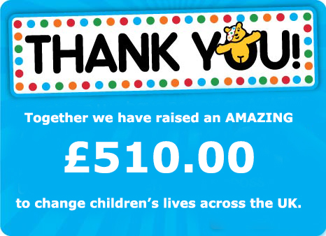 Children in Need - Money Raised