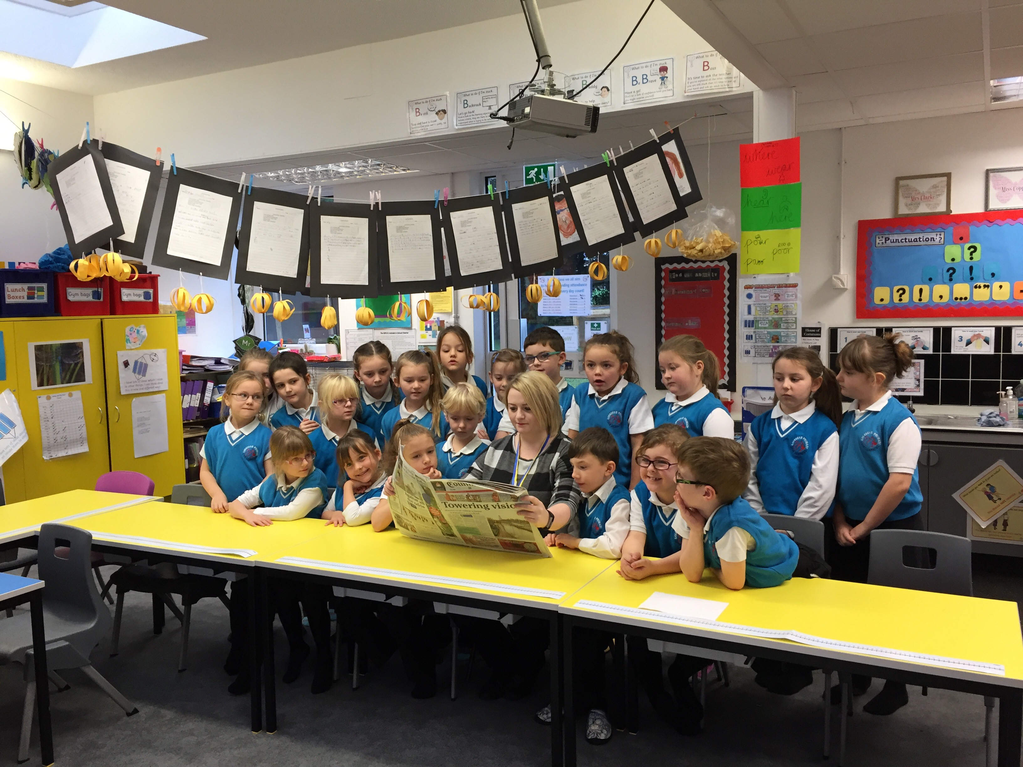 News reporter visits Year 2