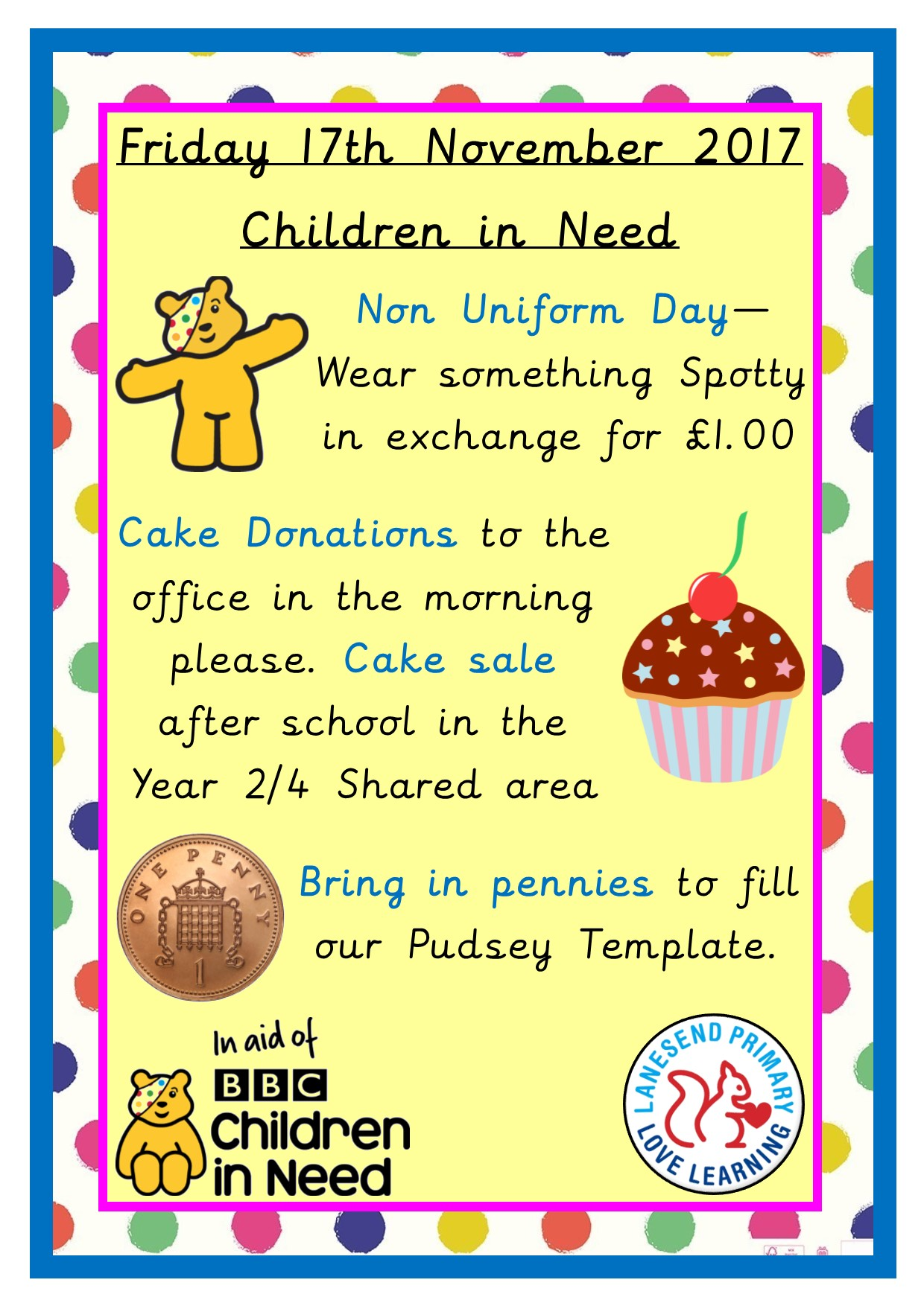 Plans for Children in Need 2017