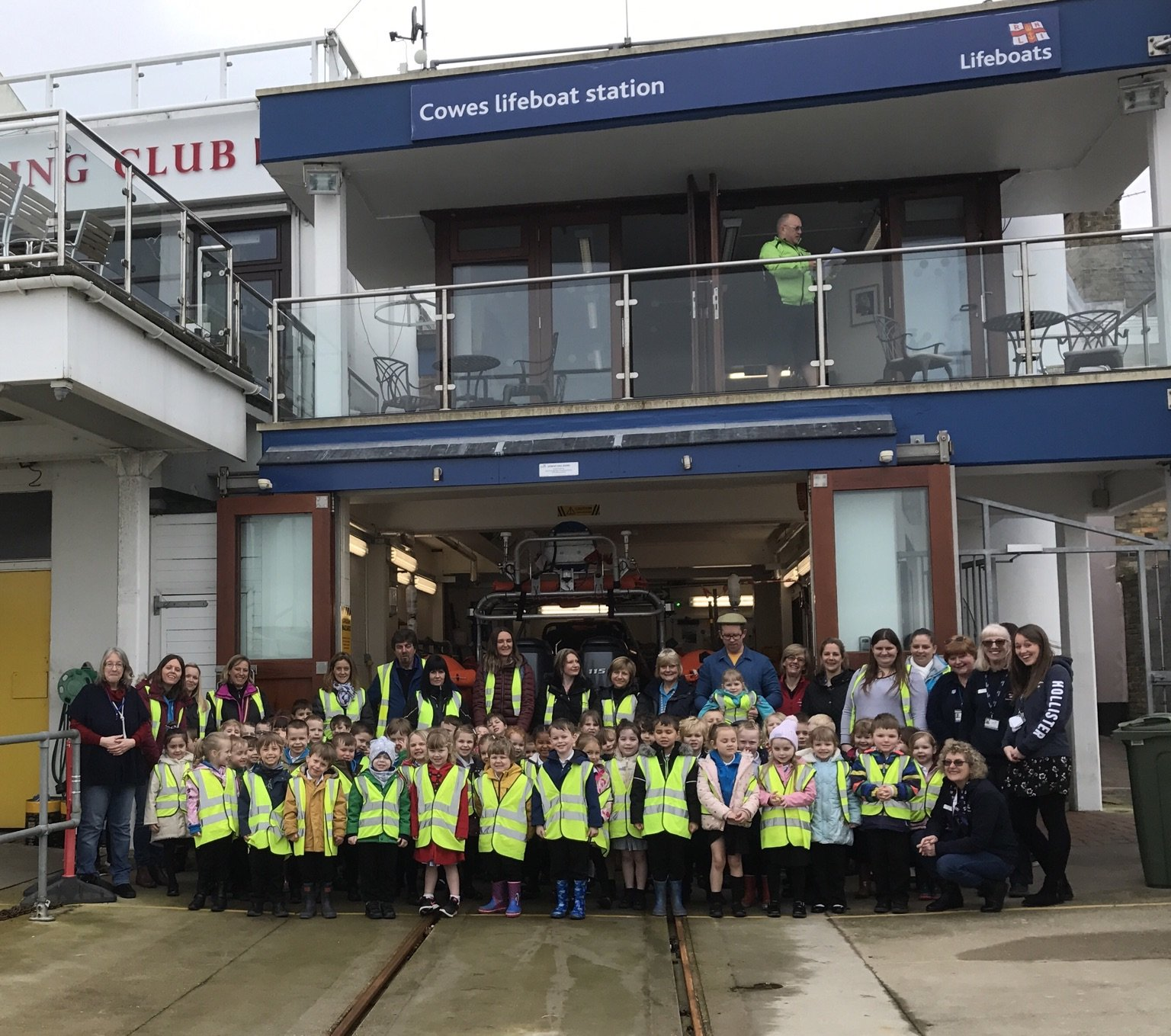Reception visit to Cowes Lifeboat Station