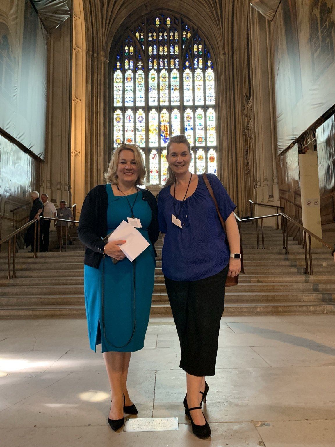 Mrs Sice and Vicki visiting the Houses of Parliament