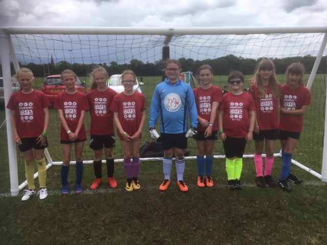Our girls football team visited the Hampshire Games