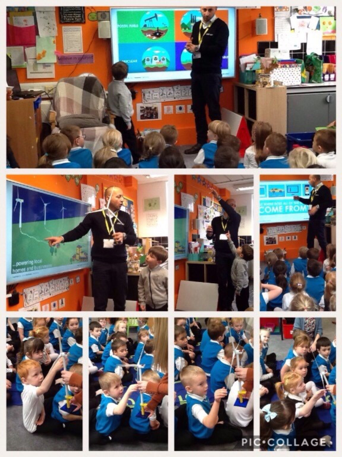 Reception hear about renewable energy!