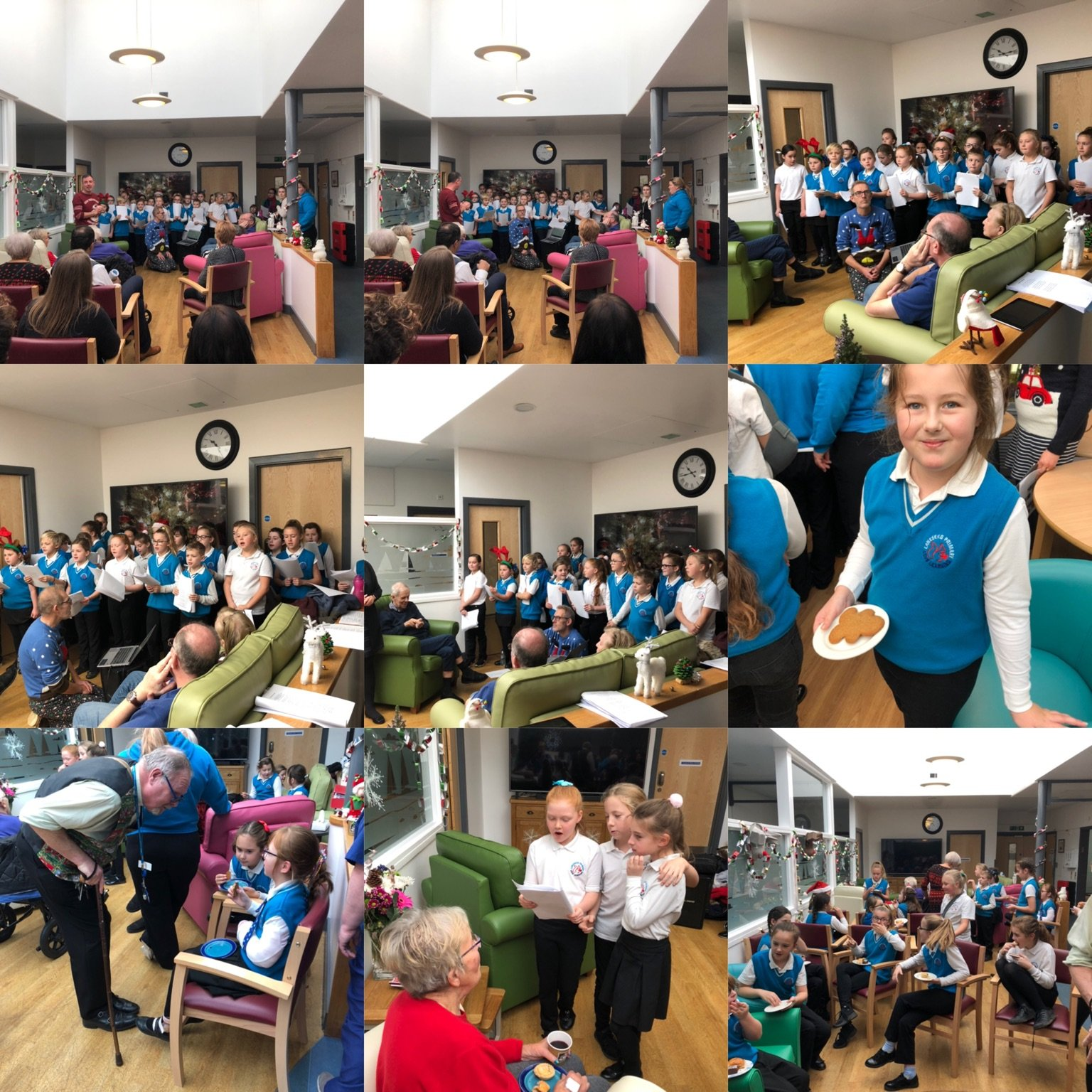 Choir singing at Afton Ward